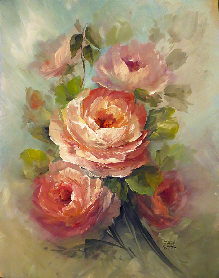 Nectar Roses Painting By David Jansen