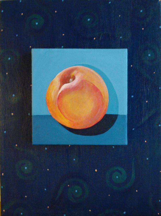 Fruit Painting - Nectarine by Helena Tiainen