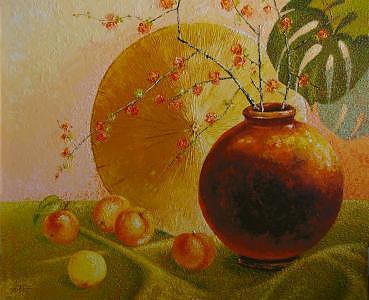 Still Life Painting - Nectorines by Gordon Sage