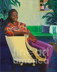 Portrait Painting - Nedra 1 by Darlene Boyd