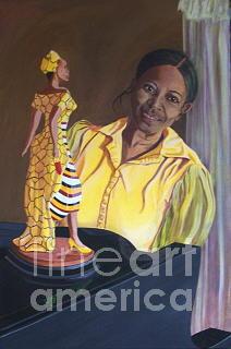 Portrait Painting - Nedra 2 by Darlene Boyd