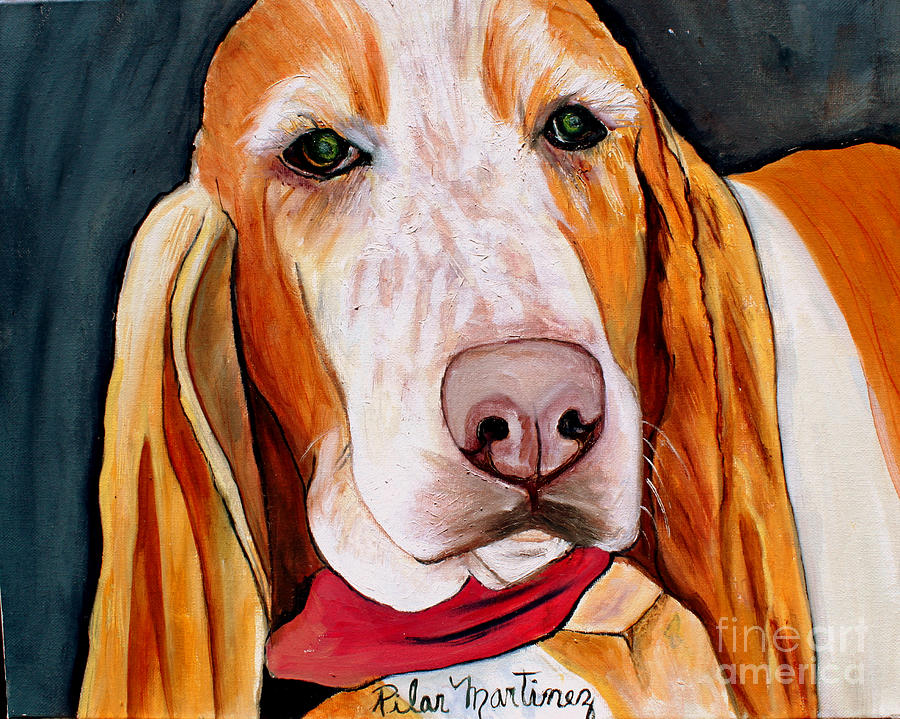 Dog Painting - Need A Home by Pilar  Martinez-Byrne