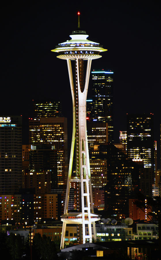 Needle At Night Photograph by Brian OKelly