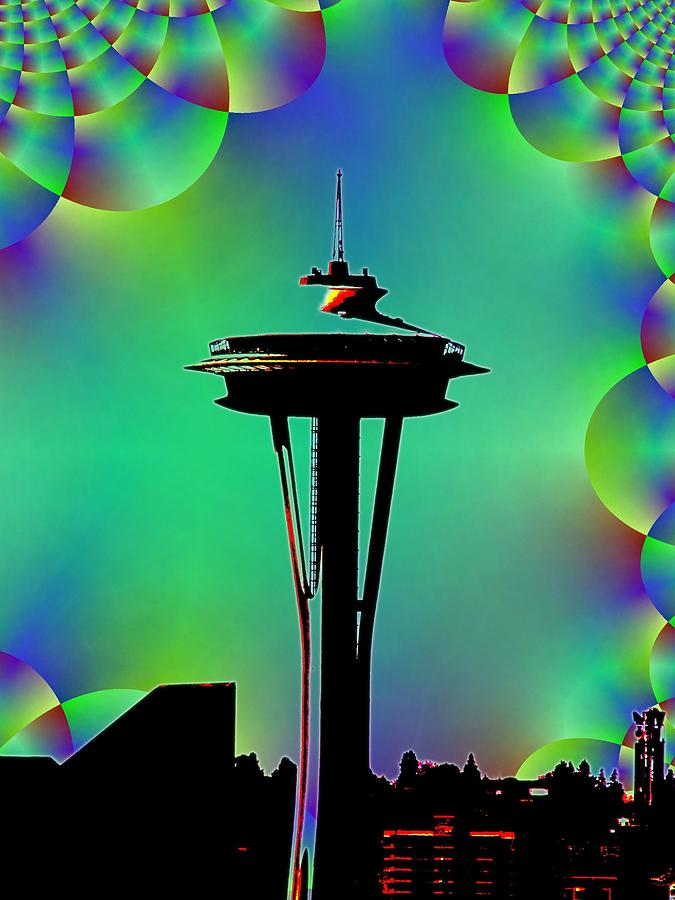 Seattle Digital Art - Needle In Fractal 3 by Tim Allen