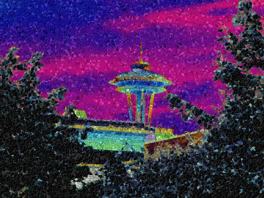 Seattle Photograph - Needle In Mosaic 2 by Tim Allen