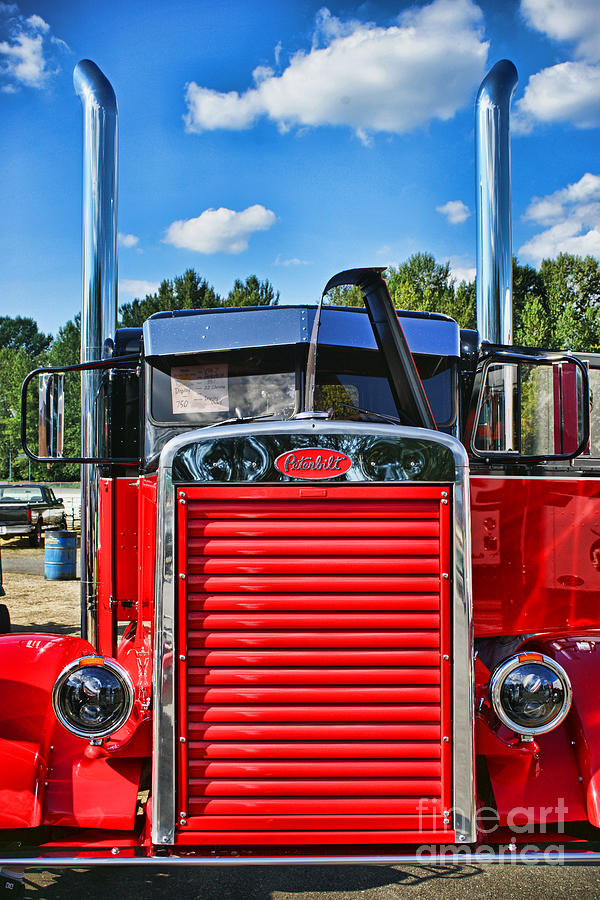 Needle-nosed Peterbilt Abstract Photograph