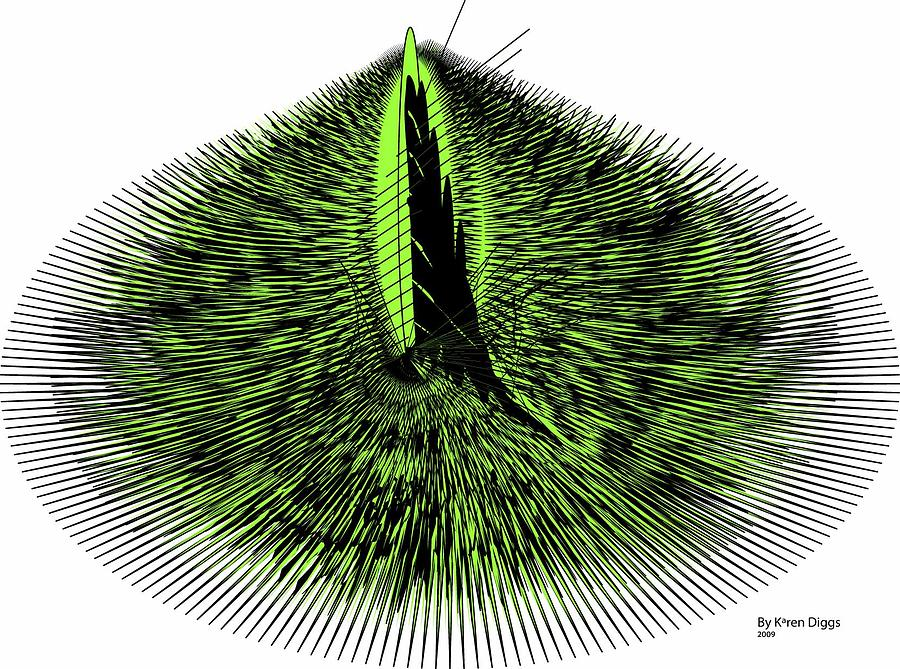 Abstract Digital Art - Needles by Karen Diggs