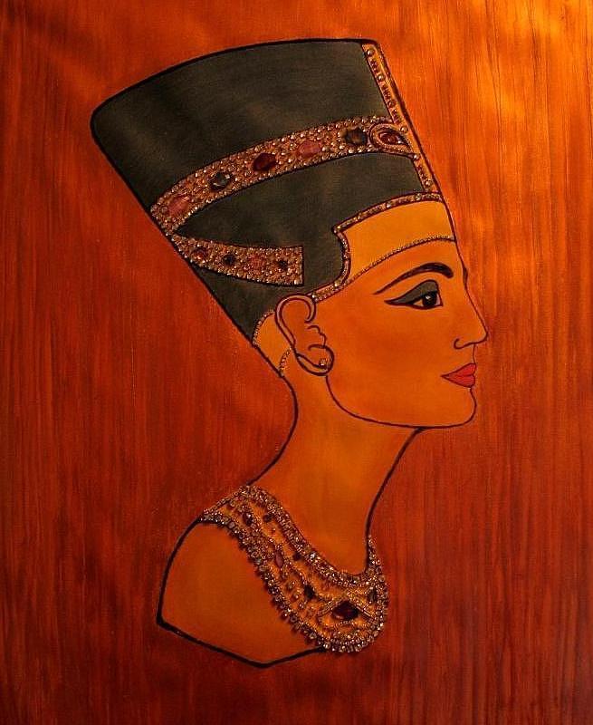 Egypt Painting - Nefertiti by Angela Falcone