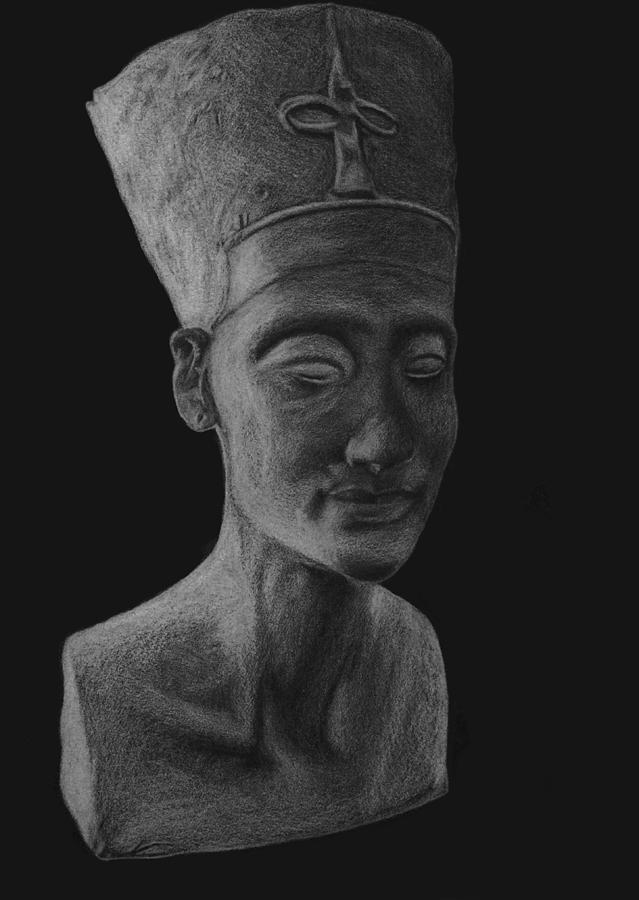 Egypt Drawing - Nefertiti  by Nikolai Jonasson