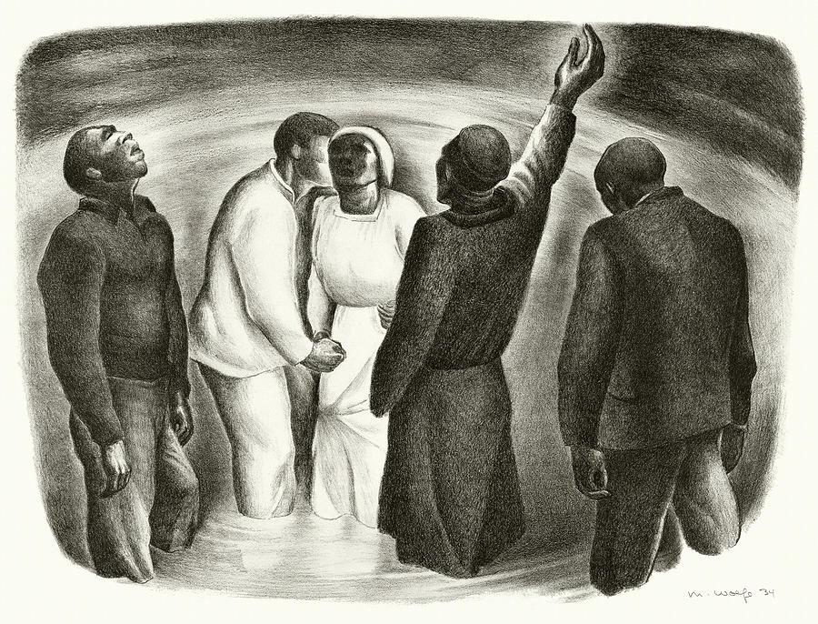 Negro Baptism Painting
