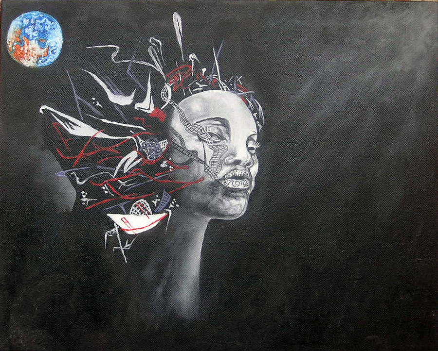 Negro Painting - Negro by Janina Magnusson
