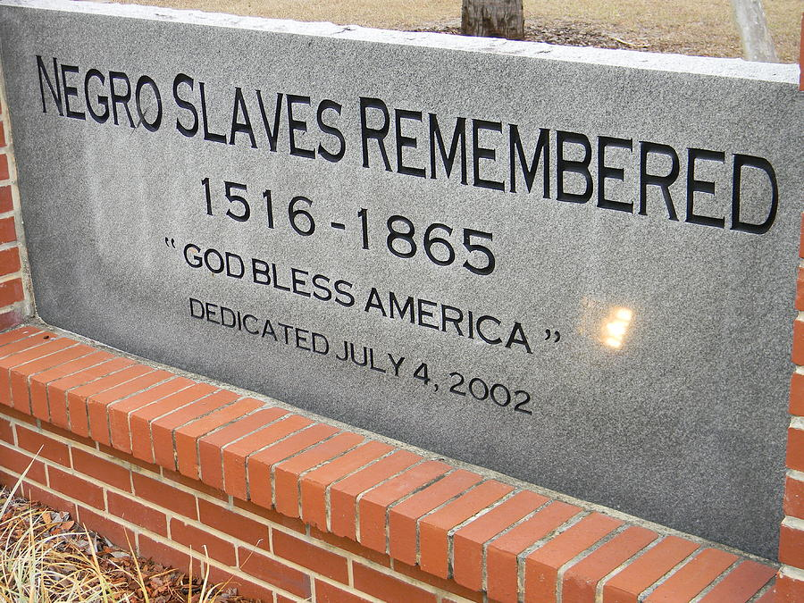 Monument Photograph - Negro Slaves Remembered by Warren Thompson