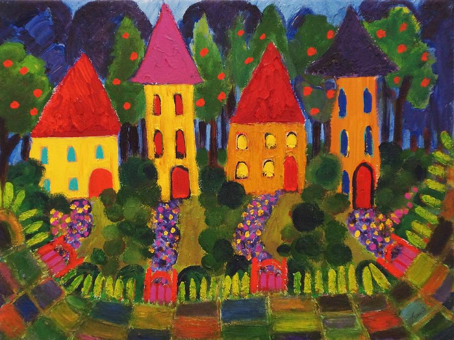 Bright Painting - Neighborhood by Fran Steinmark