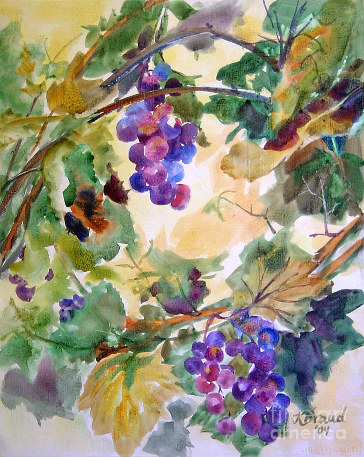 Paintings Painting - Neighborhood Grapevine by Kathy Braud