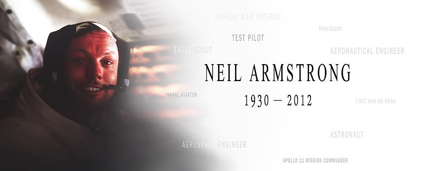 Neil Armstrong Photograph - Neil Armstrong by Daniel Hagerman