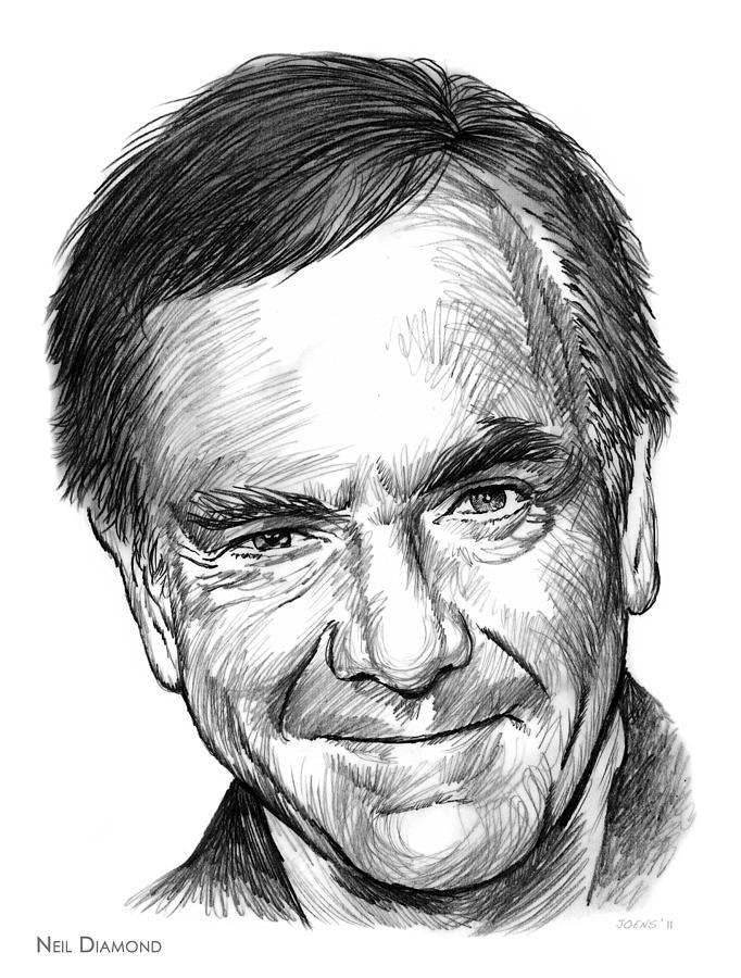 Neil Diamond Drawing