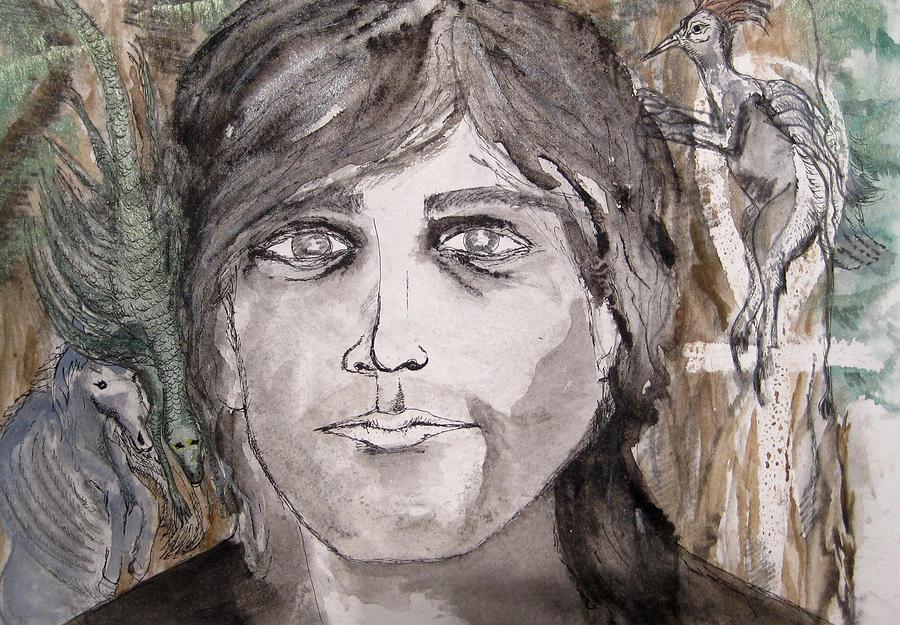 Neil Gaiman Painting by Darkest Artist