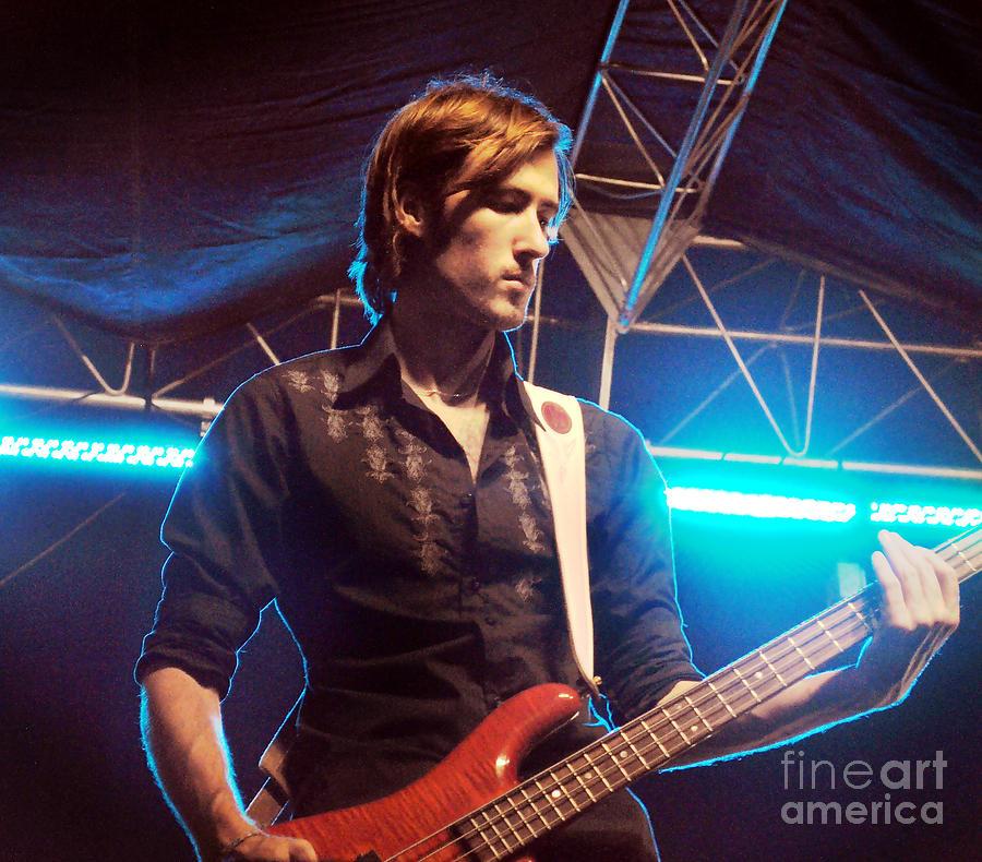 Guitar Photograph - Neil Sanford Lindsey Lee Band by Amanda  Sanford