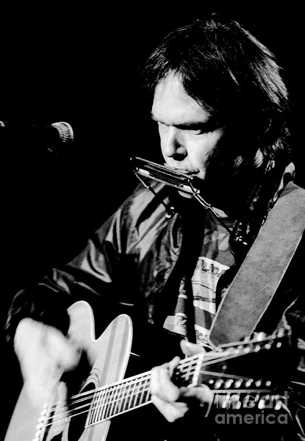 Neil Young Photograph - Neil Young 1986 #2 by Chris Walter