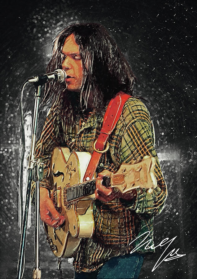 Neil Young Digital Art - Neil Young by Zapista OU