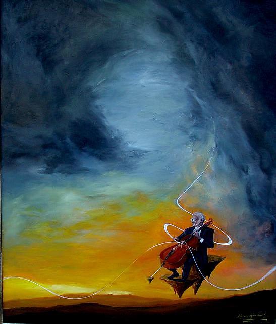 Cello Painting - Neiro Cello by Ronnie Miyashiro