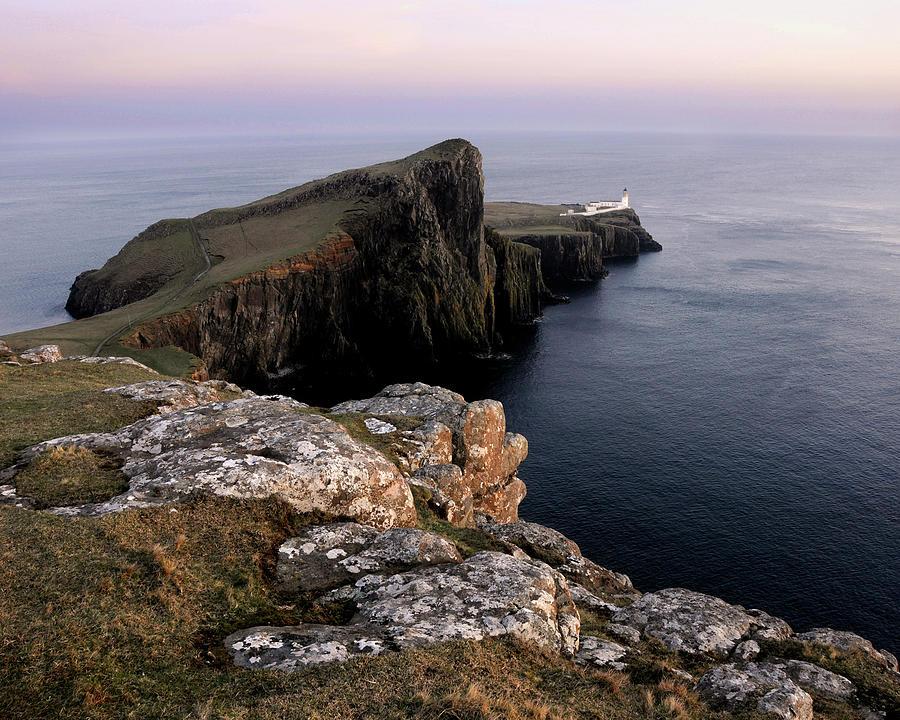 Neist Point Photograph - Neist Point Lighthouse, Isle Of Skye, Scotland by David Stanley