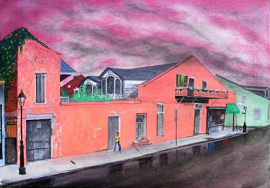 City Scene Painting - Nellys Deli by Tom Hefko