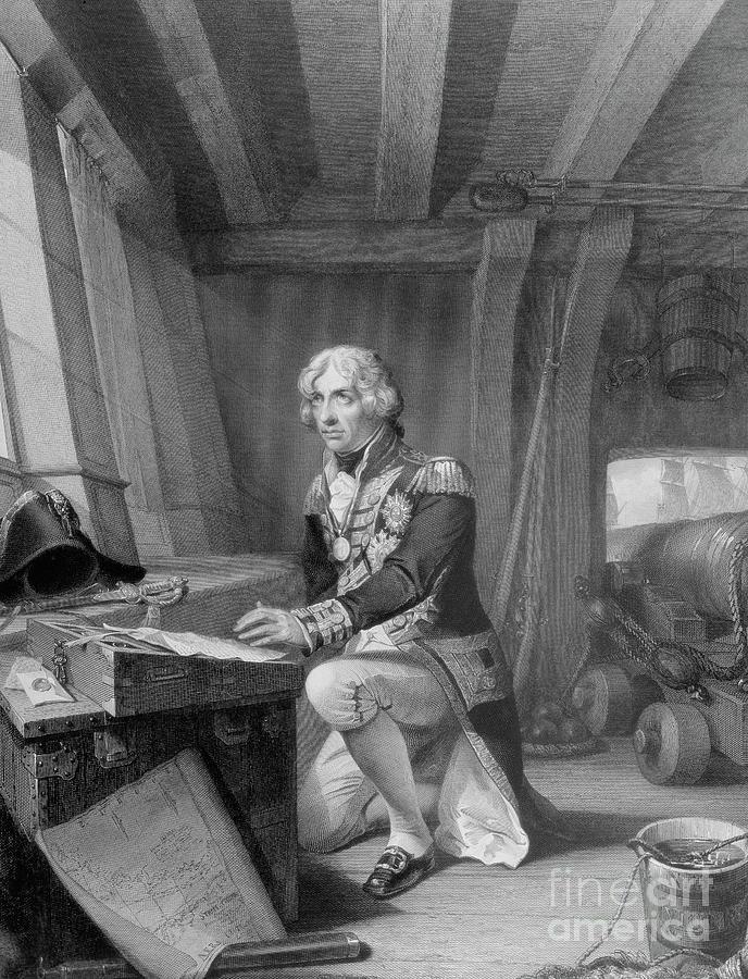 British Drawing - Nelson At Prayer by English School