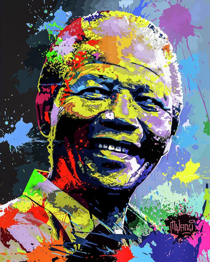 South Digital Art - Nelson Mandela Madiba by Anthony Mwangi
