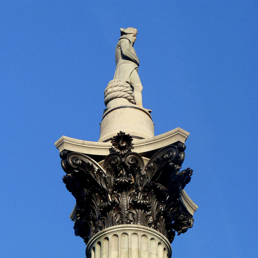 London Photograph - Nelsons Column, Trafalgar Square, London by Misentropy