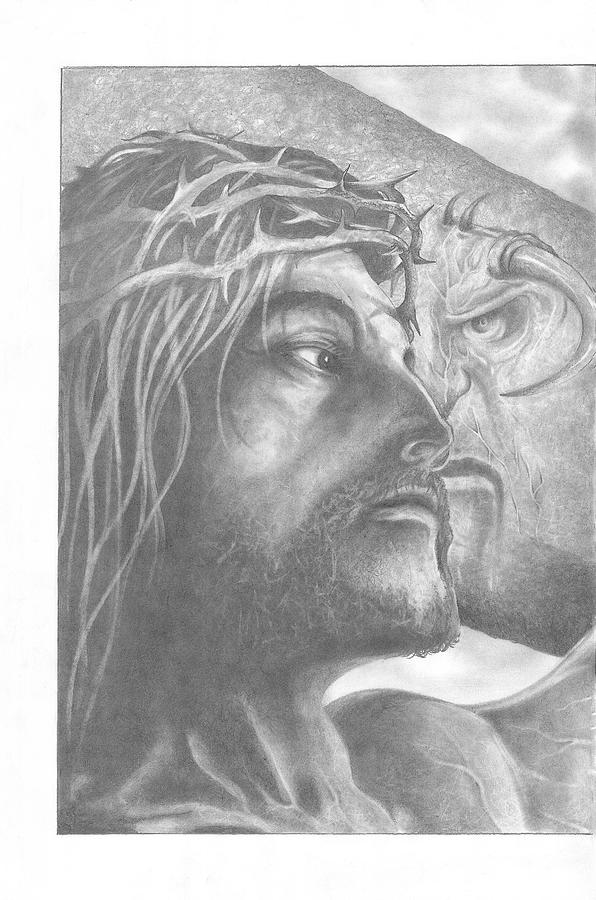 Jesus Drawing - Nemesis 1 Of 2  by Julian  B