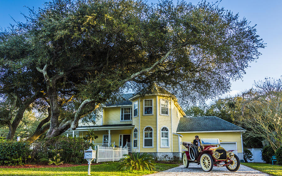 The Face Of God Photograph - Neo Victorian Amelia Island by Paula Porterfield-Izzo