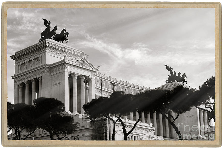 Monument Photograph - Neoclassical Architecture In Rome by Stefano Senise