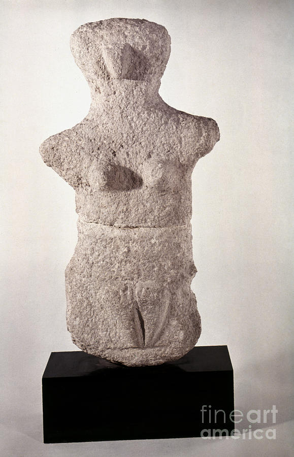 Artifact Photograph - Neolithic Figure by Granger