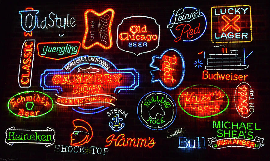 Neon Beer Signs by Danny Chavez Sr