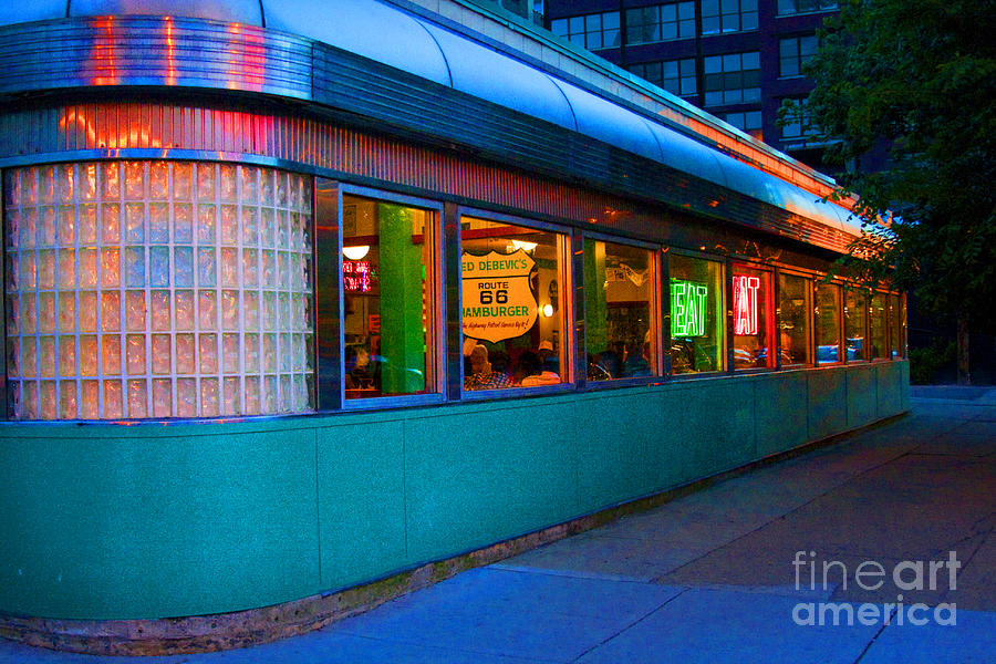 Chicago Photograph - Neon Diner by Crystal Nederman