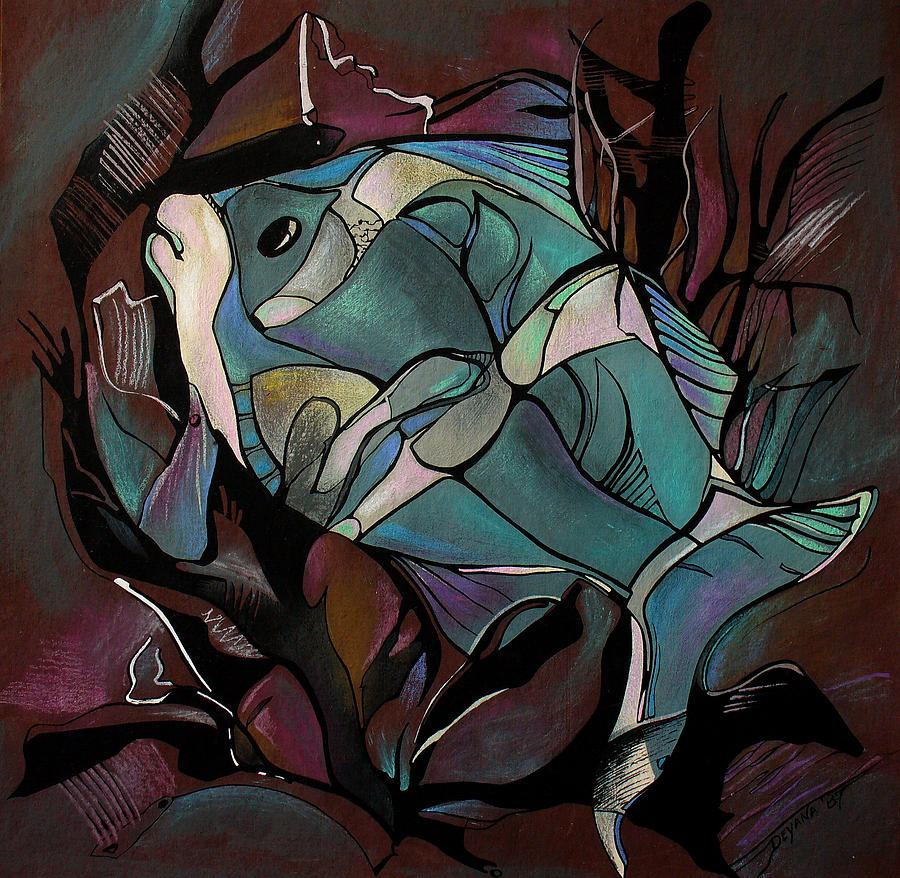 Fish Painting - Neon Fish by Deyana Deco
