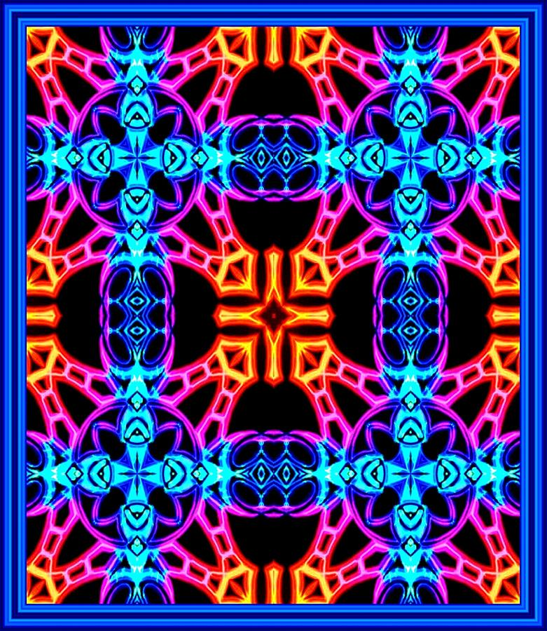 Abstract Digital Art - Neon Night by Graham Roberts