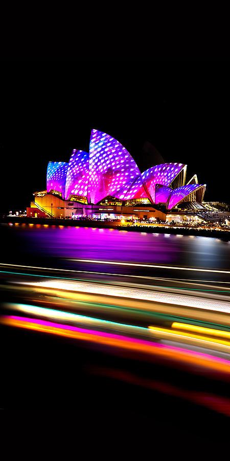 Neon Nights Panorama Photograph