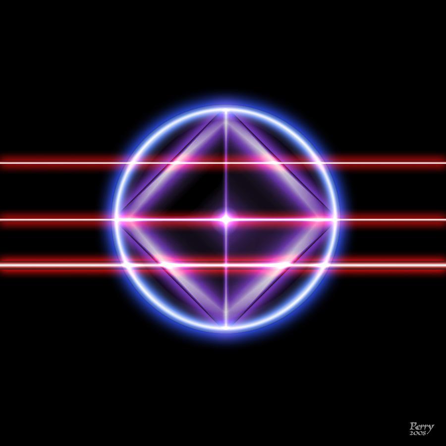 Neon Digital Art - Neonesq by Carl Perry