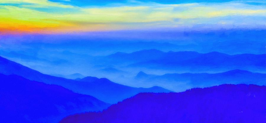 Nature Painting - Nepal Sunrise by Celestial Images