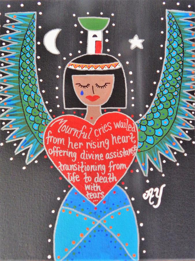 Holy Painting - Nephthys by Angela Yarber