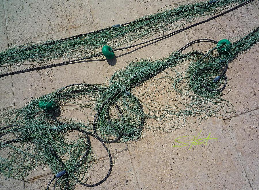 Fishing Net Photograph - Neptune Green by Charles Stuart