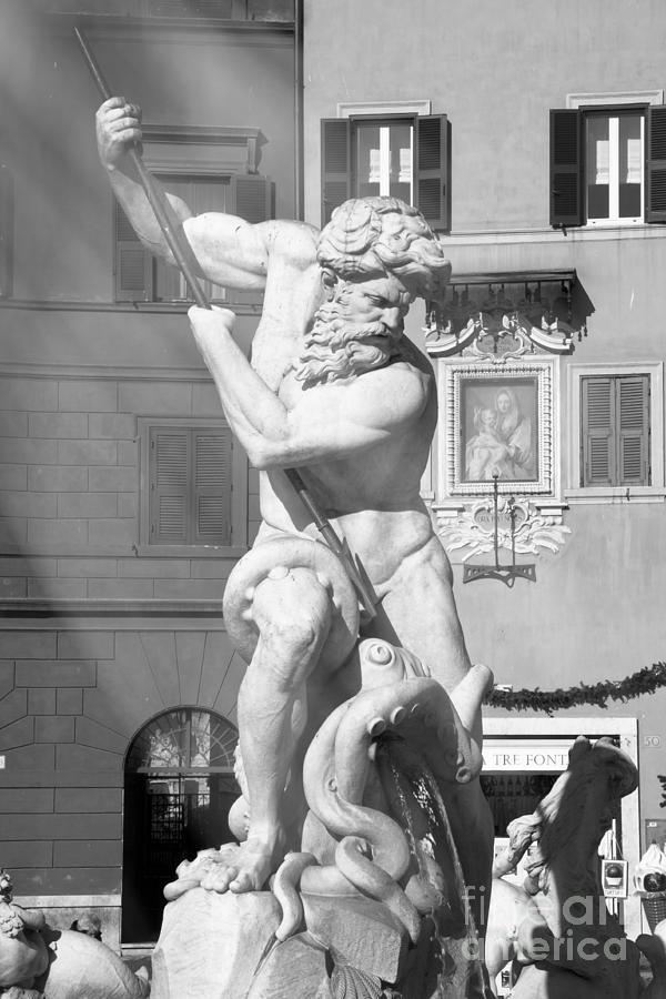 Neptune Photograph - Neptune vs Octopus - Piazza Navona In Rome by Stefano Senise