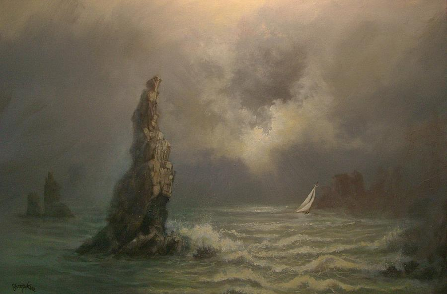 Cabo San Lucas Painting - Neptunes Finger by Tom Shropshire