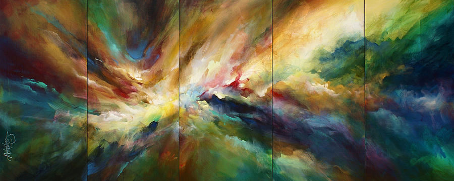 Movement Painting - Neptunes Pass by Michael Lang