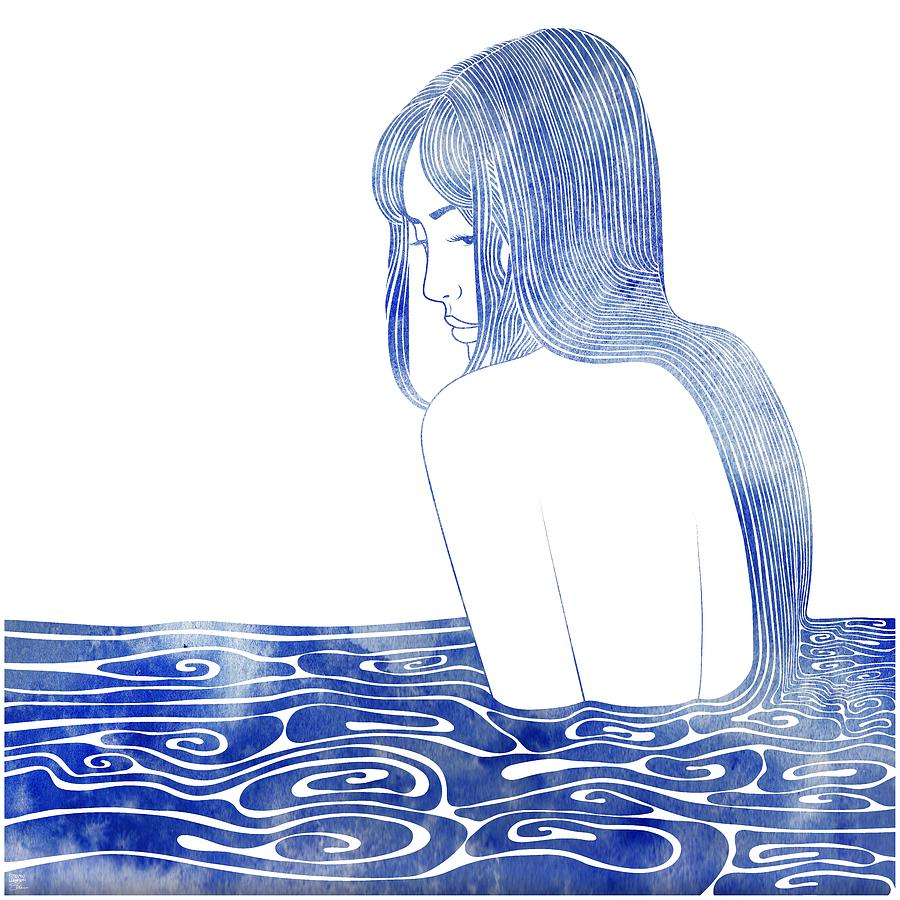 Aqua Mixed Media - Nereid Xl by Stevyn Llewellyn