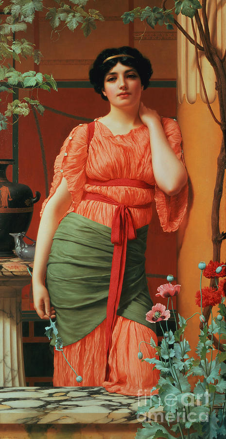 Nerissa Painting - Nerissa by John William Godward