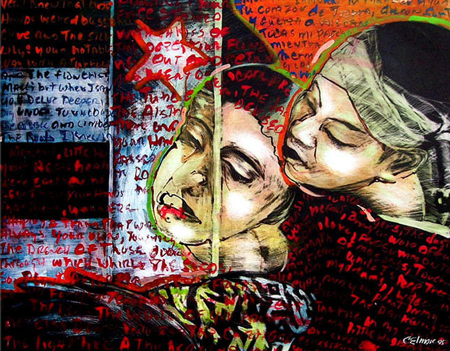 Neruda Love Poem Mixed Media by Chester Elmore