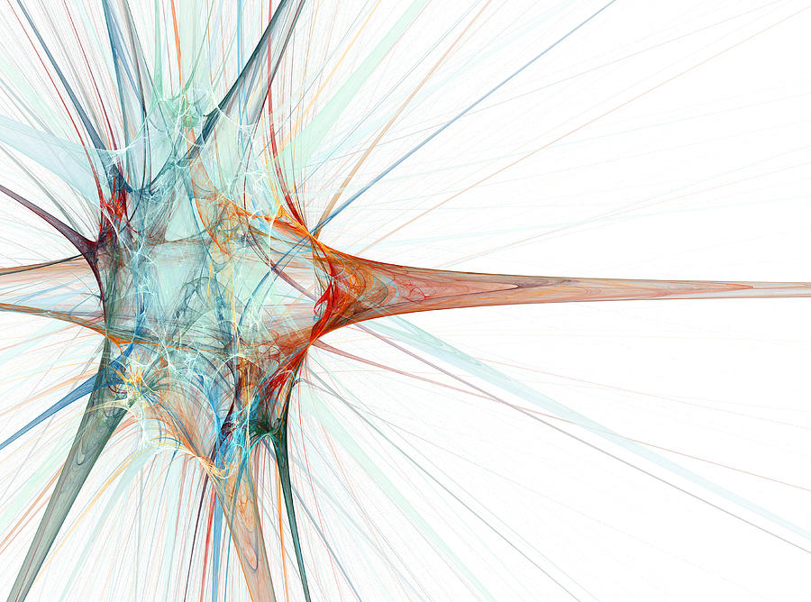 Nerve Cell Photograph - Nerve Cell, Abstract Artwork by Laguna Design
